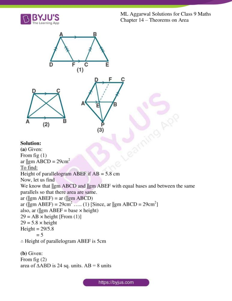 ml aggarwal solutions for class 9 maths chapter 14 14