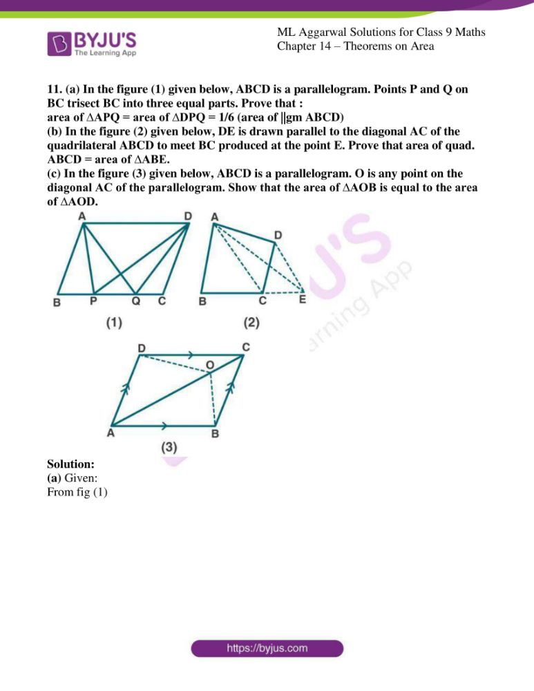 ml aggarwal solutions for class 9 maths chapter 14 16