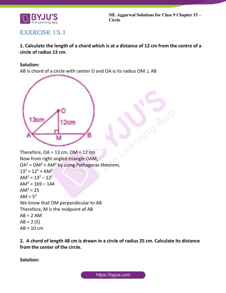ml aggarwal solutions for class 9 maths chapter 15 01