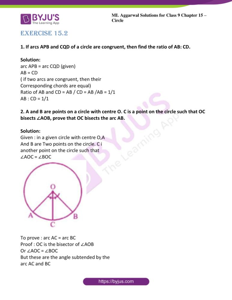 ml aggarwal solutions for class 9 maths chapter 15 16