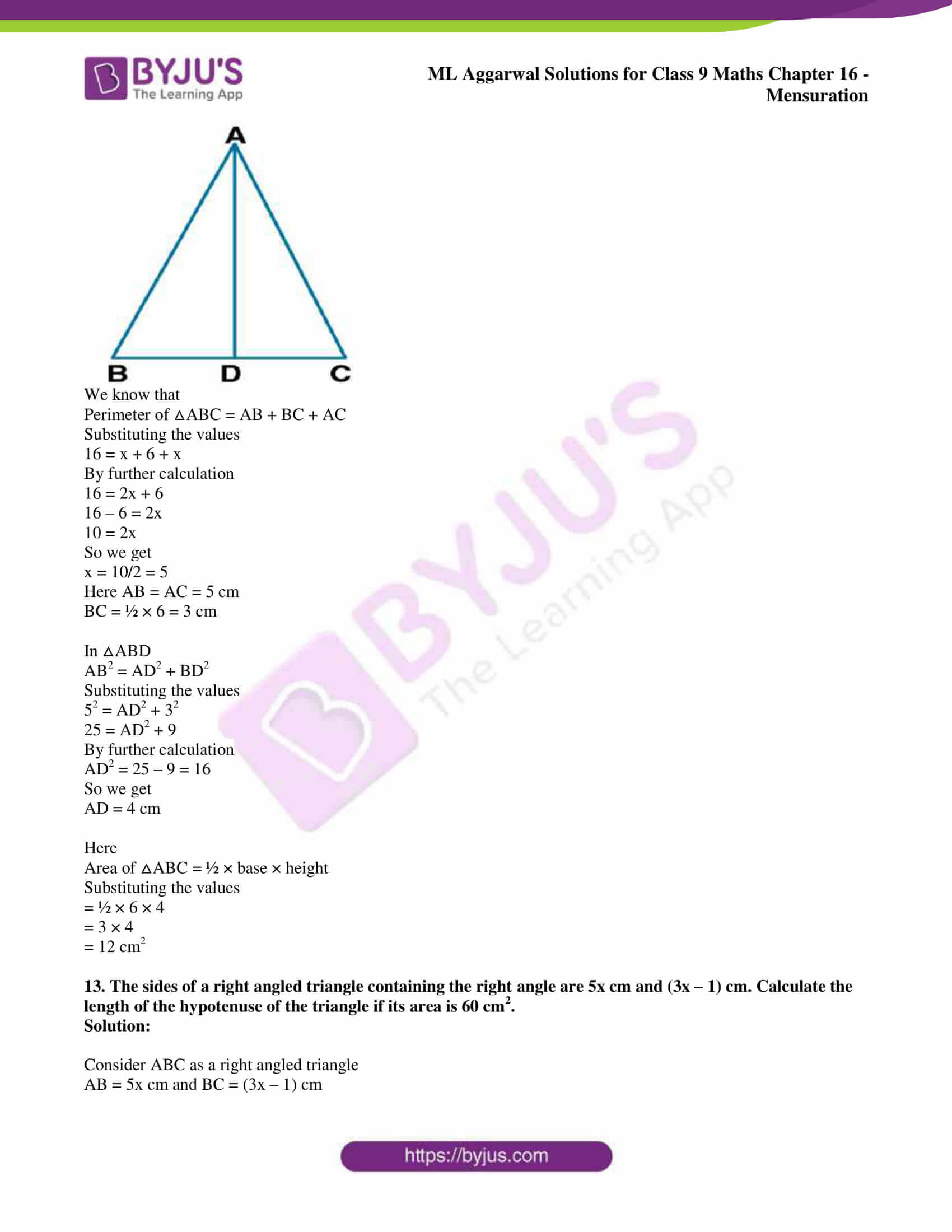ml aggarwal solutions for class 9 maths chapter 16 012