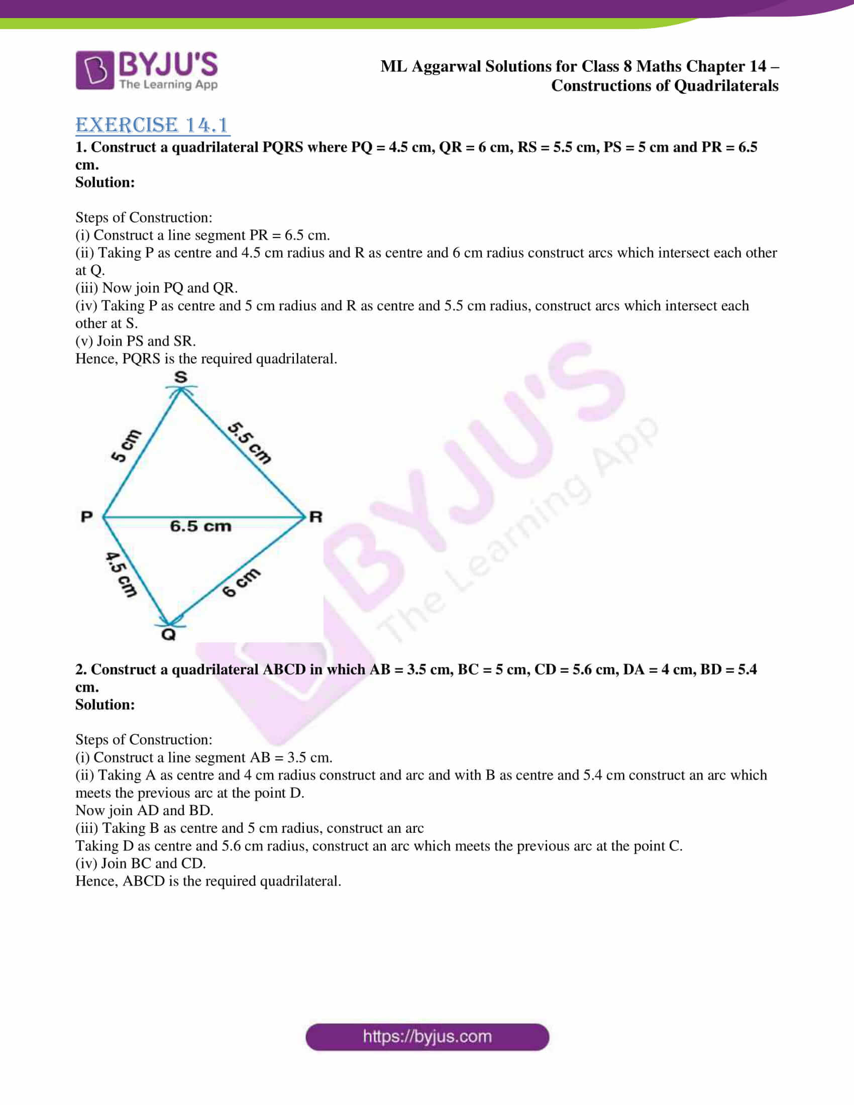 ml aggarwal sol class 7 maths chapter 14 1