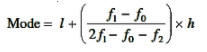 mode formula