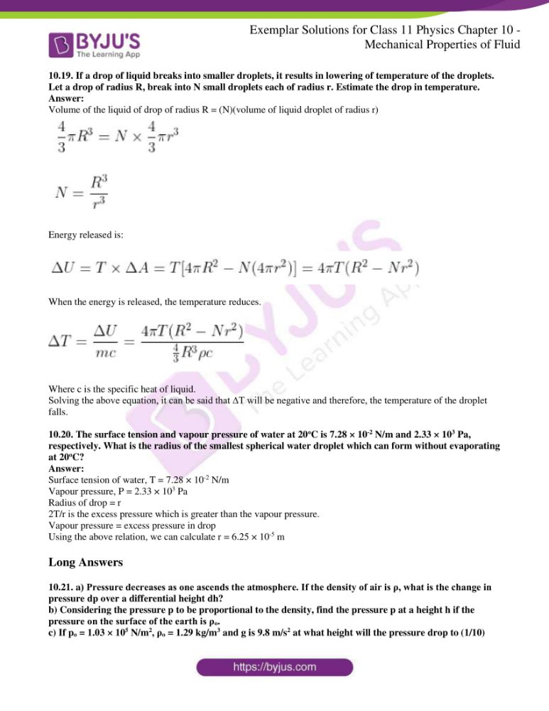 ncert exemplar solutions for class 11 physics chapt 10 11
