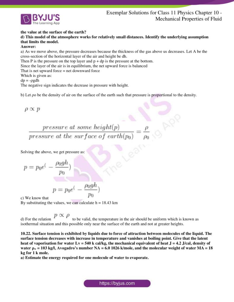 ncert exemplar solutions for class 11 physics chapt 10 12