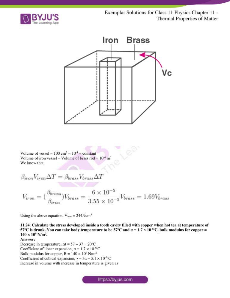 ncert exemplar solutions for class 11 physics chapt 11 12