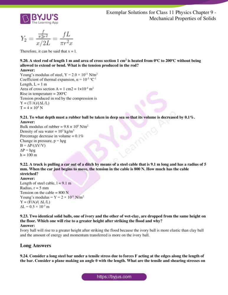 ncert exemplar solutions for class 11 physics chapt 9 09