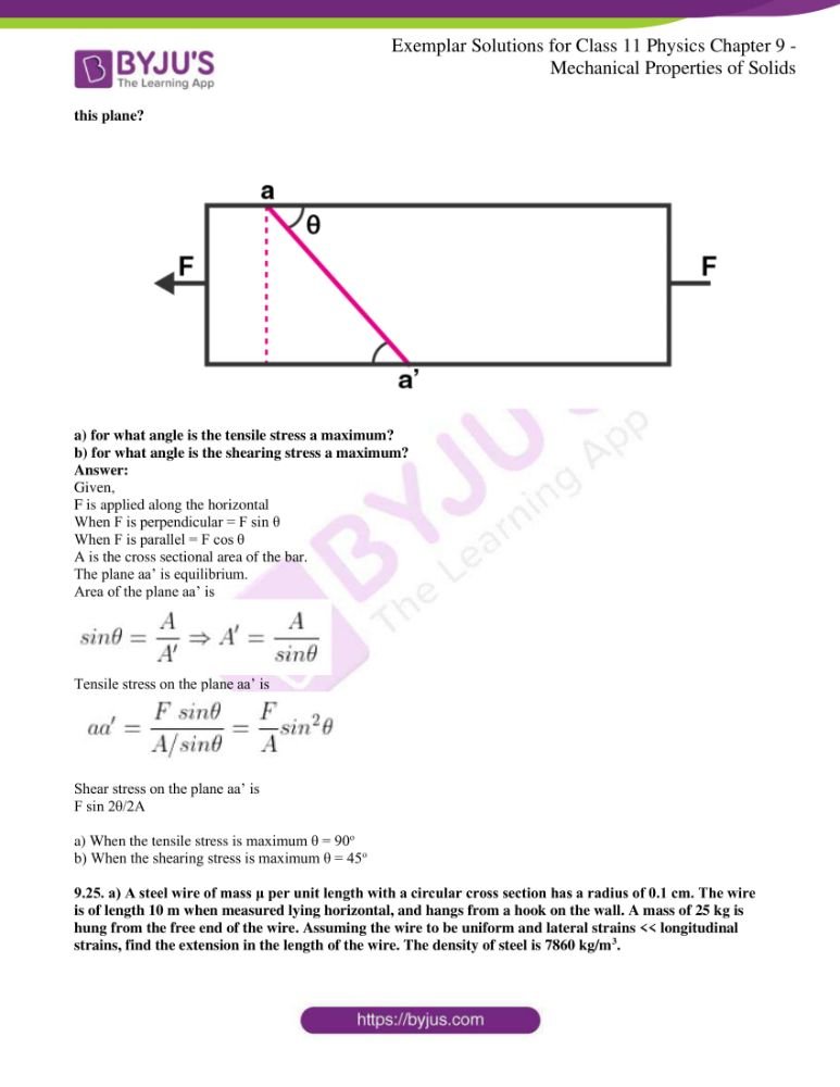 ncert exemplar solutions for class 11 physics chapt 9 10