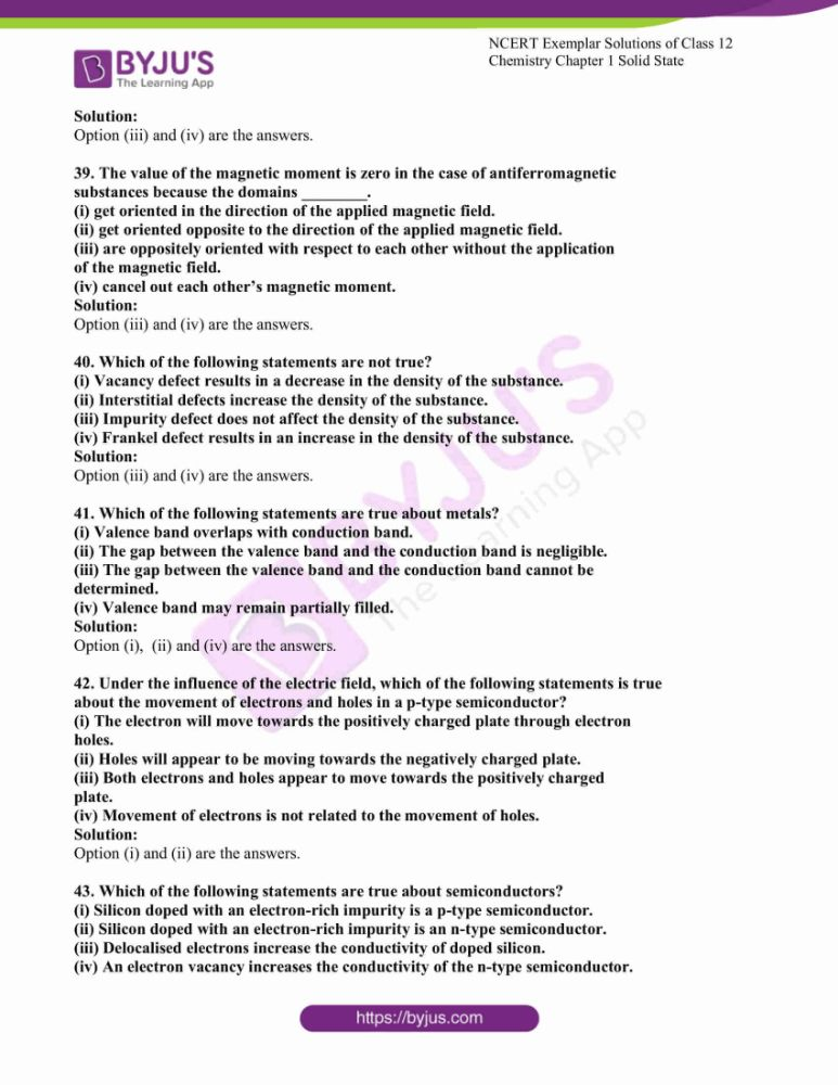 ncert exemplar solutions for class 12 chemistry chapter 1 solid 09
