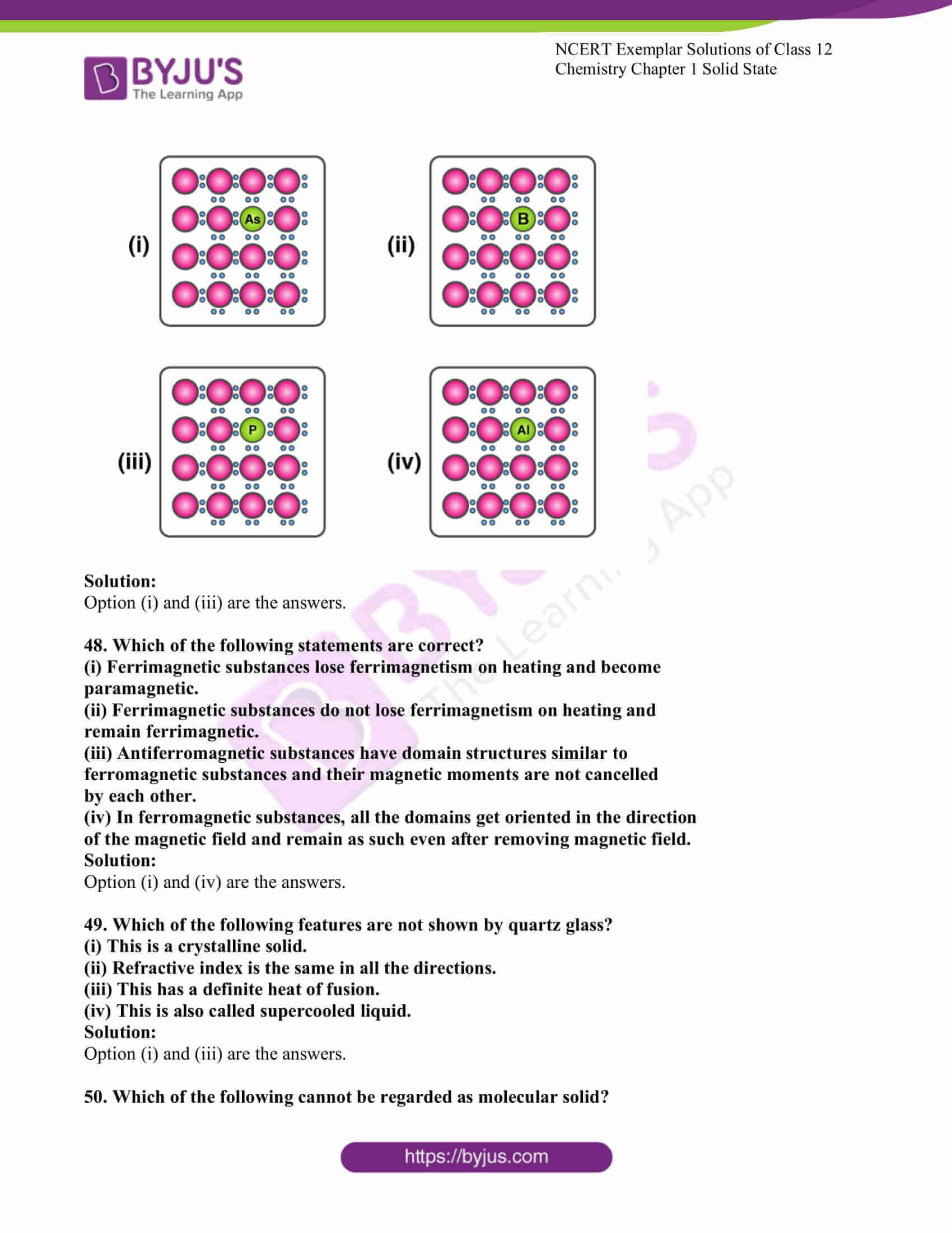 ncert exemplar solutions for class 12 chemistry chapter 1 solid 11