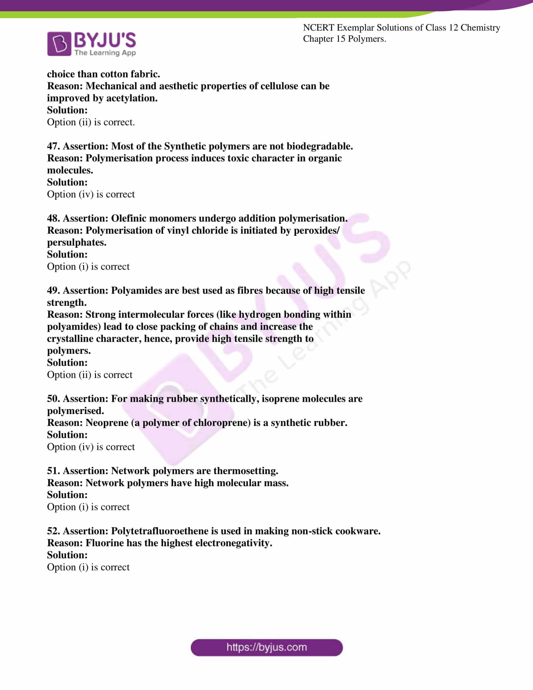 ncert exemplar solutions for class 12 chemistry chapter 15 polymers 13