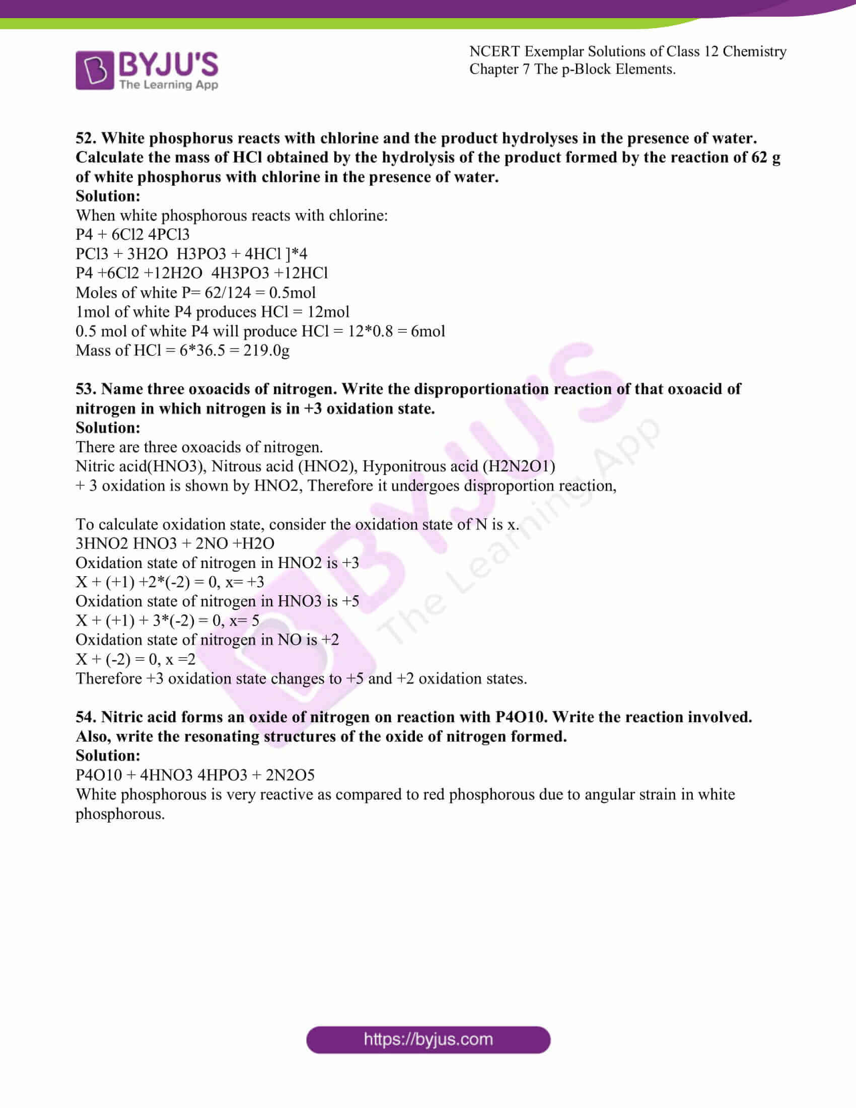 ncert exemplar solutions for class 12 chemistry chapter 7 pBlock 11