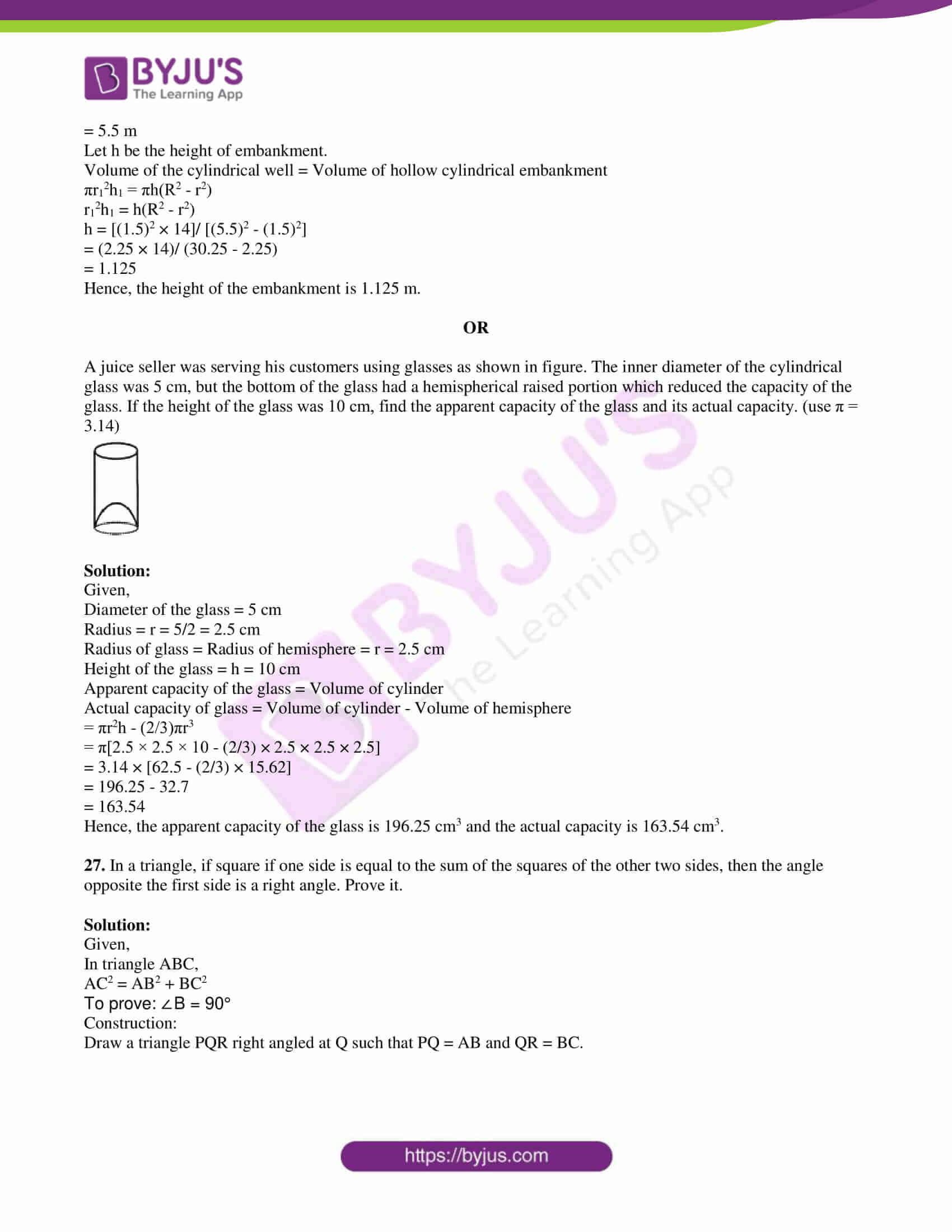 pseb class 10 mathematics question paper 2018 paper c with solutions 14