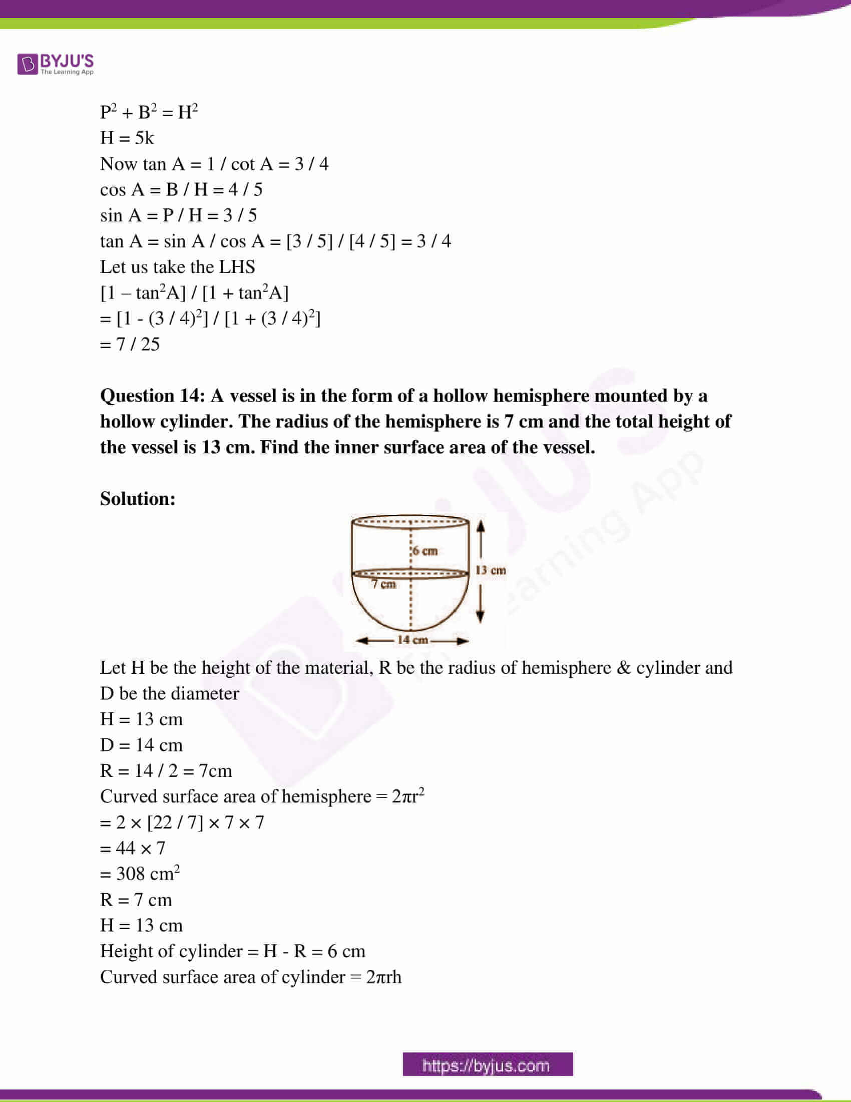 rajasthan board class 10 examination question paper sol march 2015 06