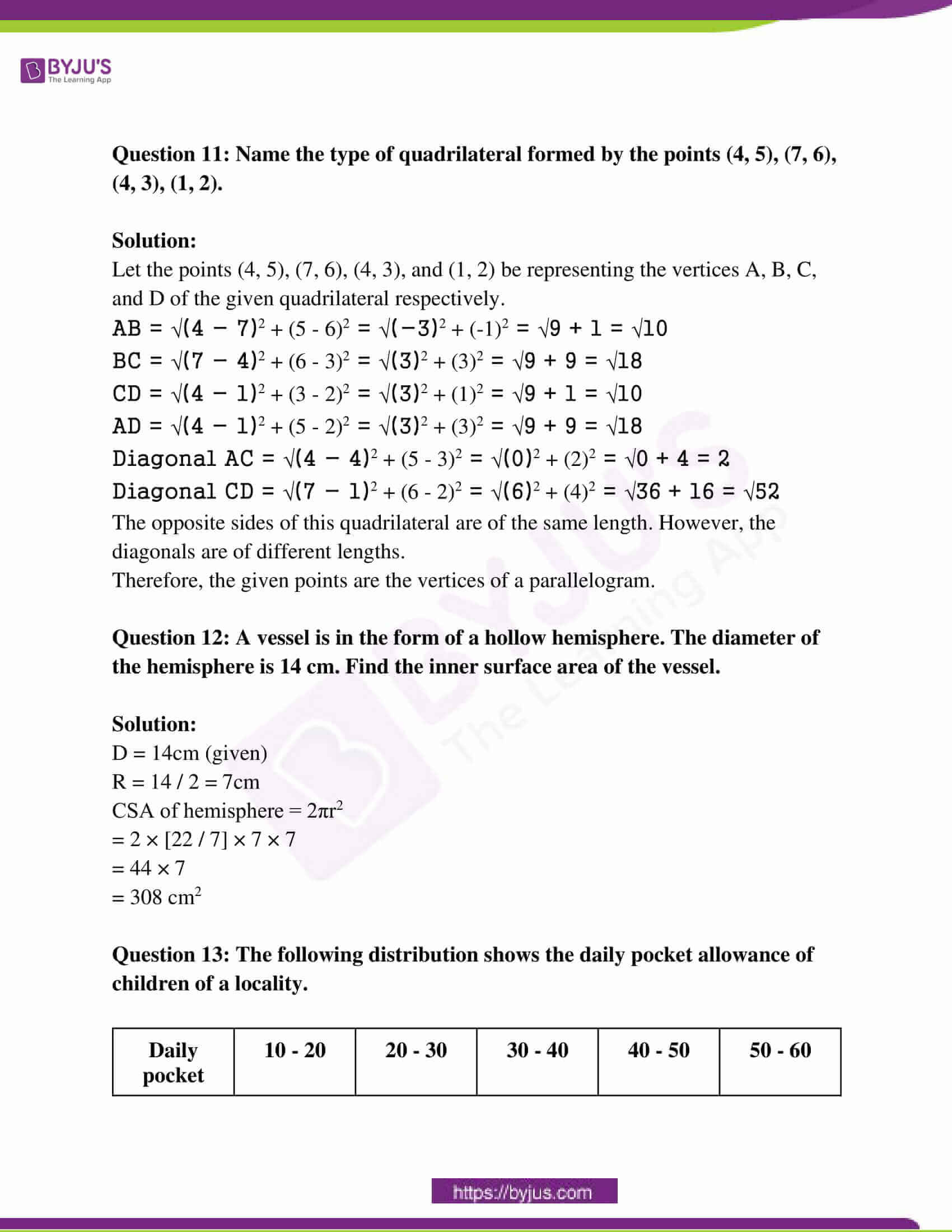 rajasthan board class 10 examination question paper sol march 2017 05