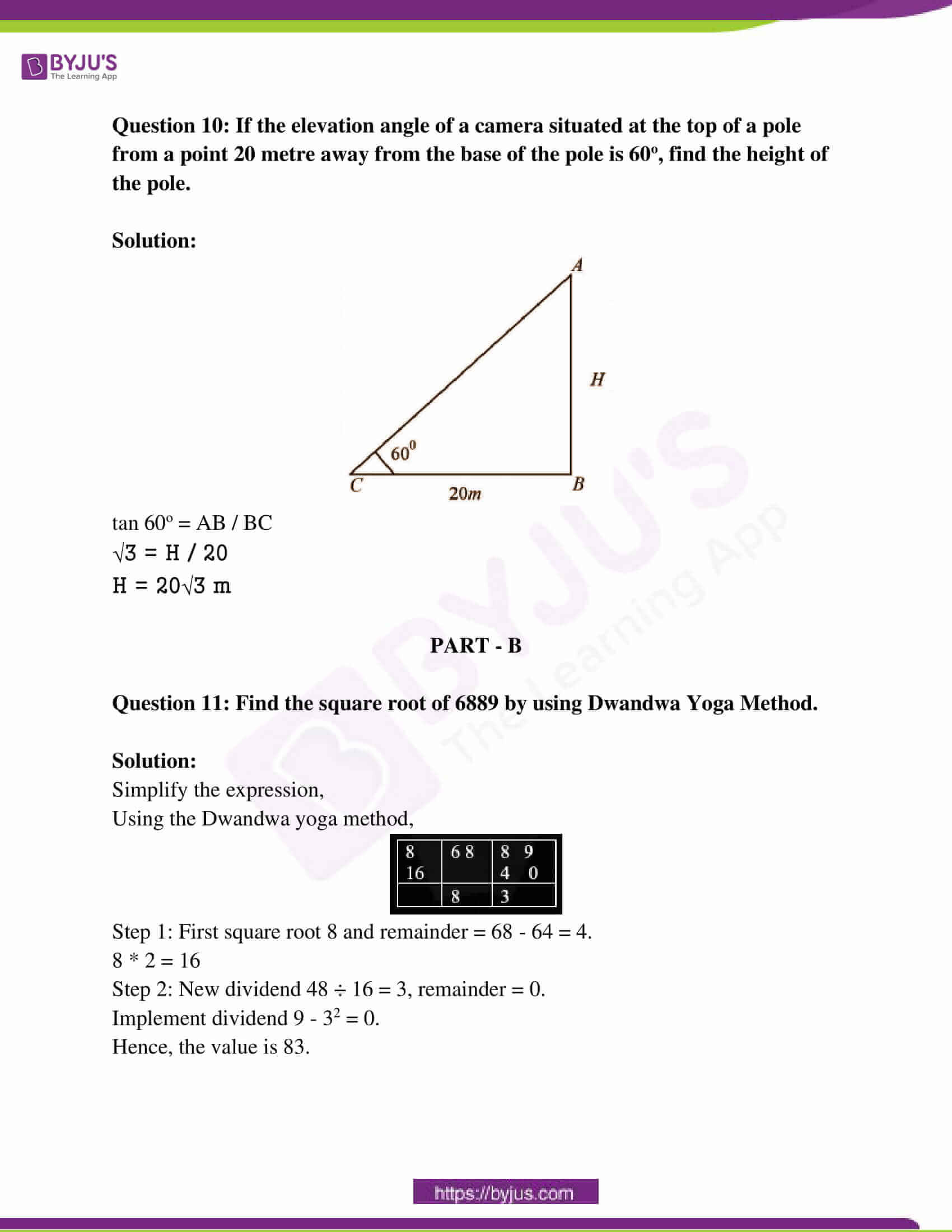 rajasthan board class 10 examination question paper sol march 2018 05