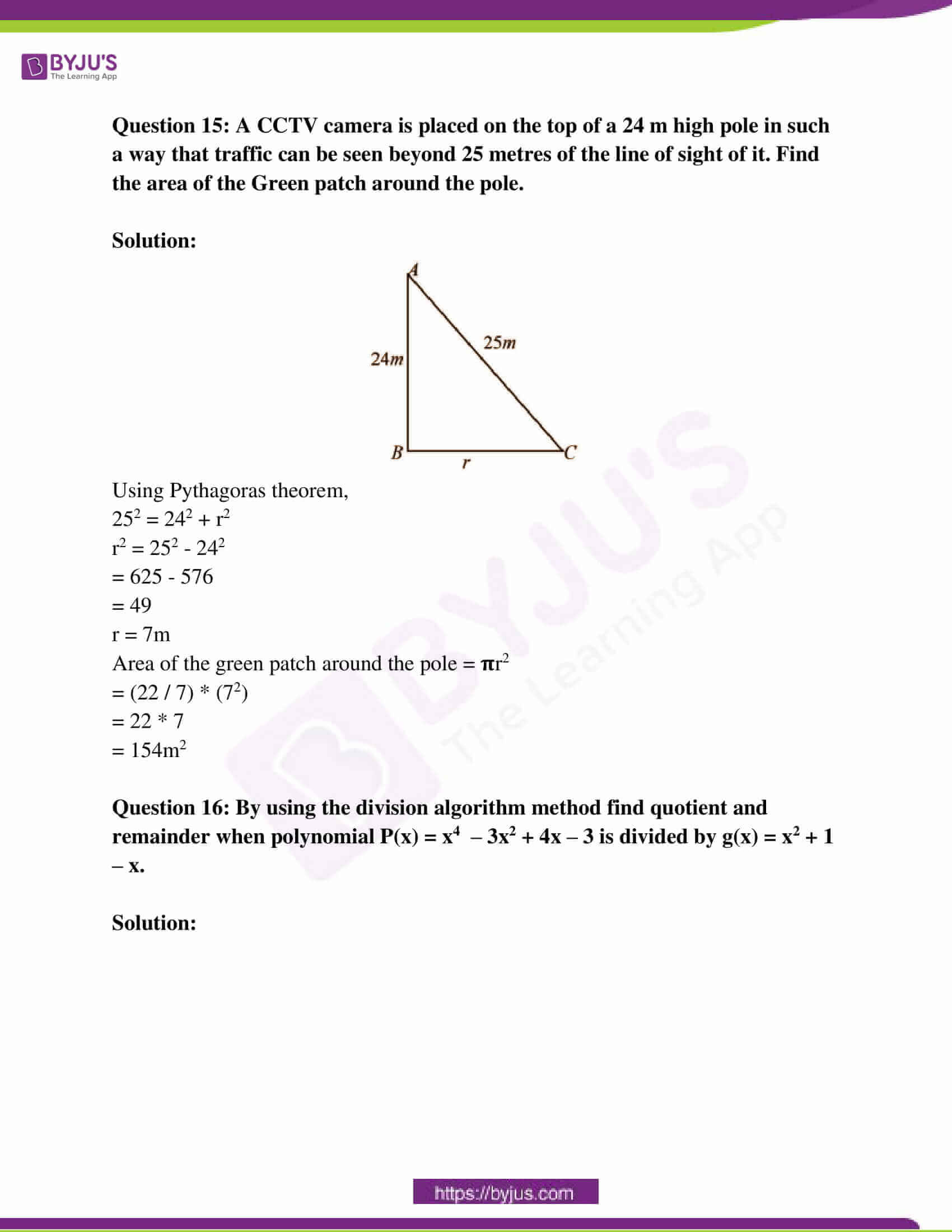 rajasthan board class 10 examination question paper sol march 2018 07