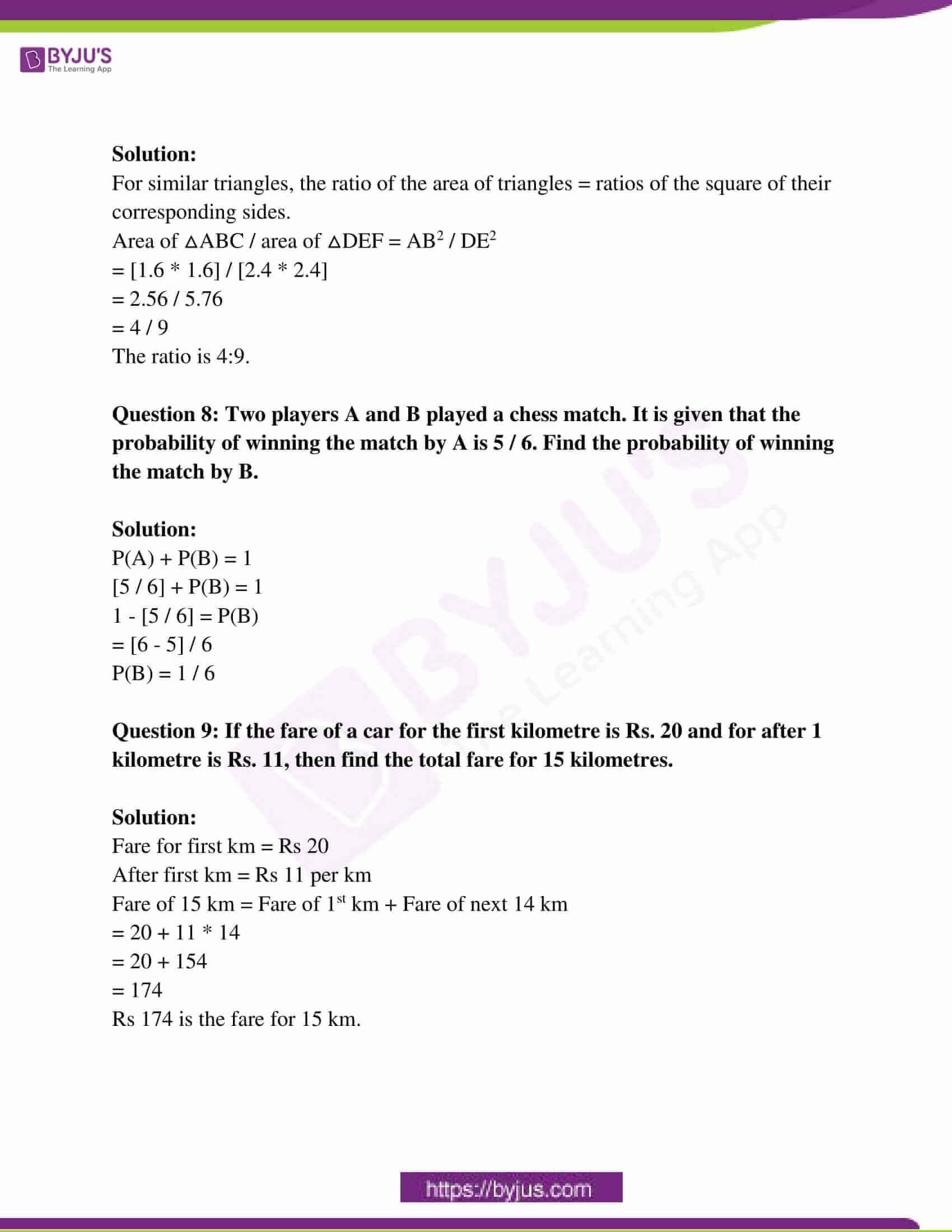 rajasthan board class 10 examination question paper sol march 2019 03