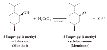 Secondary alcohols are oxidized to ketones.