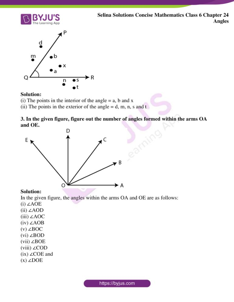 selina solutions for concise mathematics class 6 chapter 24 ex a 03