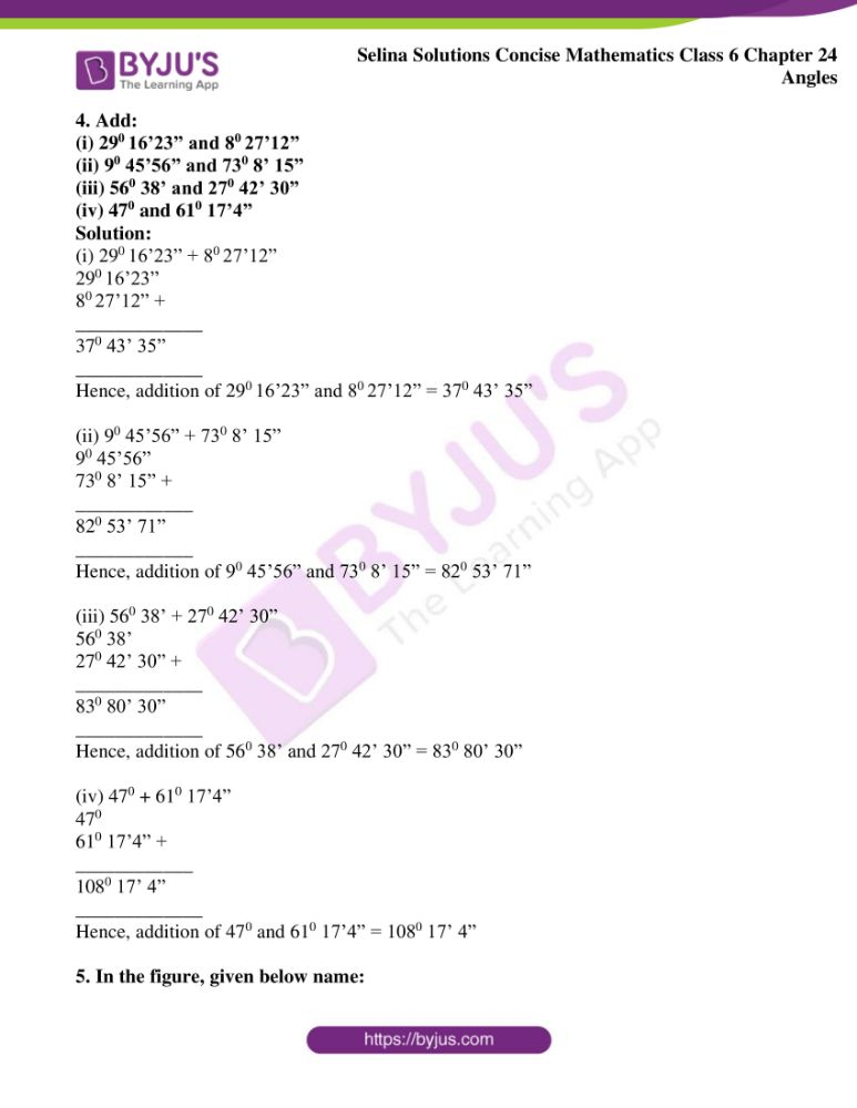 selina solutions for concise mathematics class 6 chapter 24 ex a 04