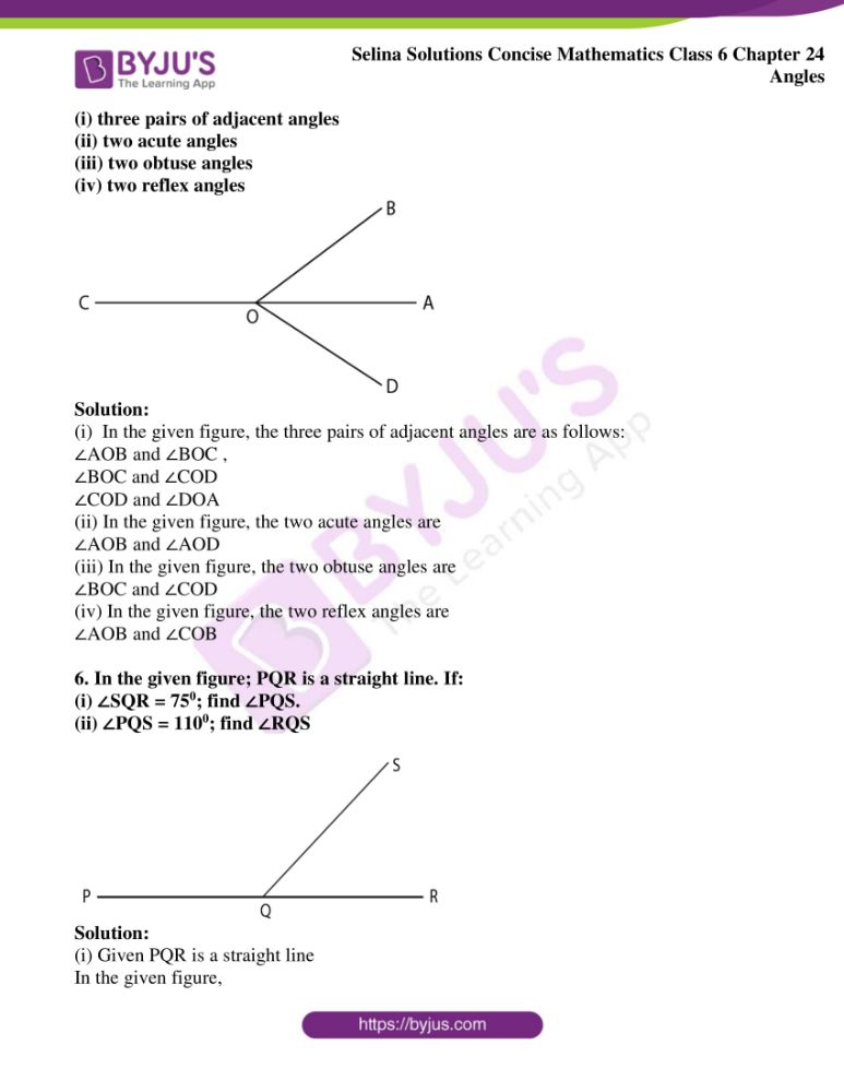 selina solutions for concise mathematics class 6 chapter 24 ex a 05