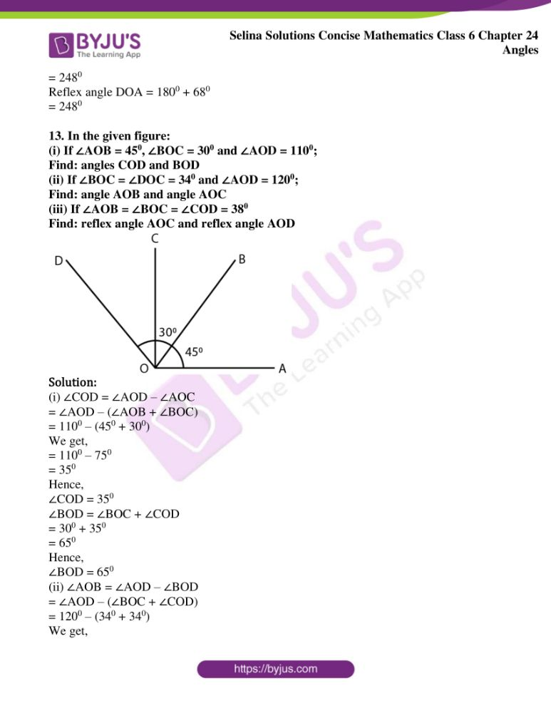 selina solutions for concise mathematics class 6 chapter 24 ex a 13