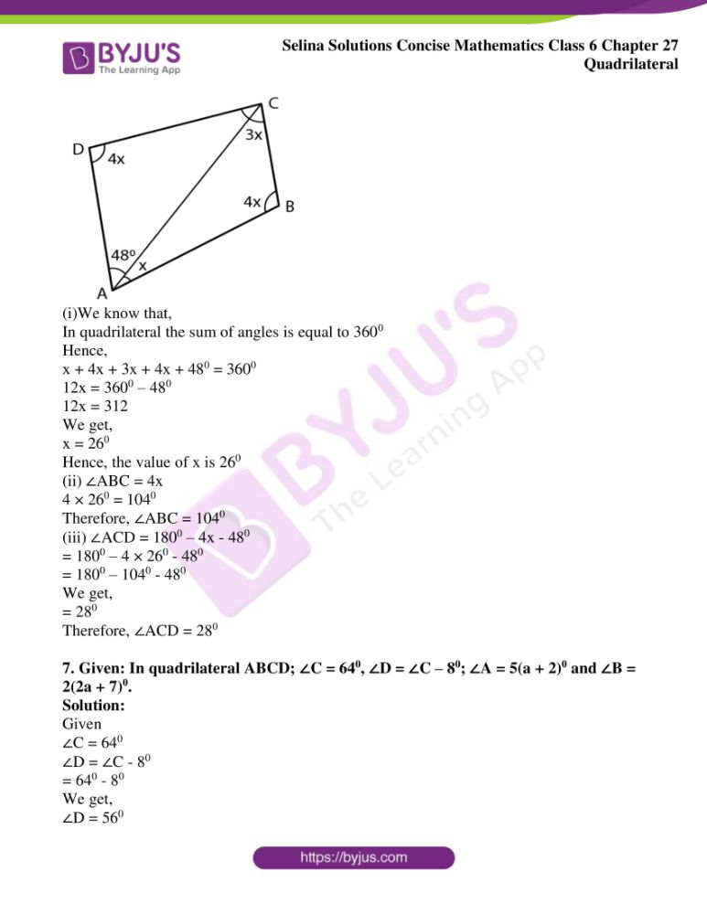 selina solutions for concise mathematics class 6 chapter 27 ex a 05