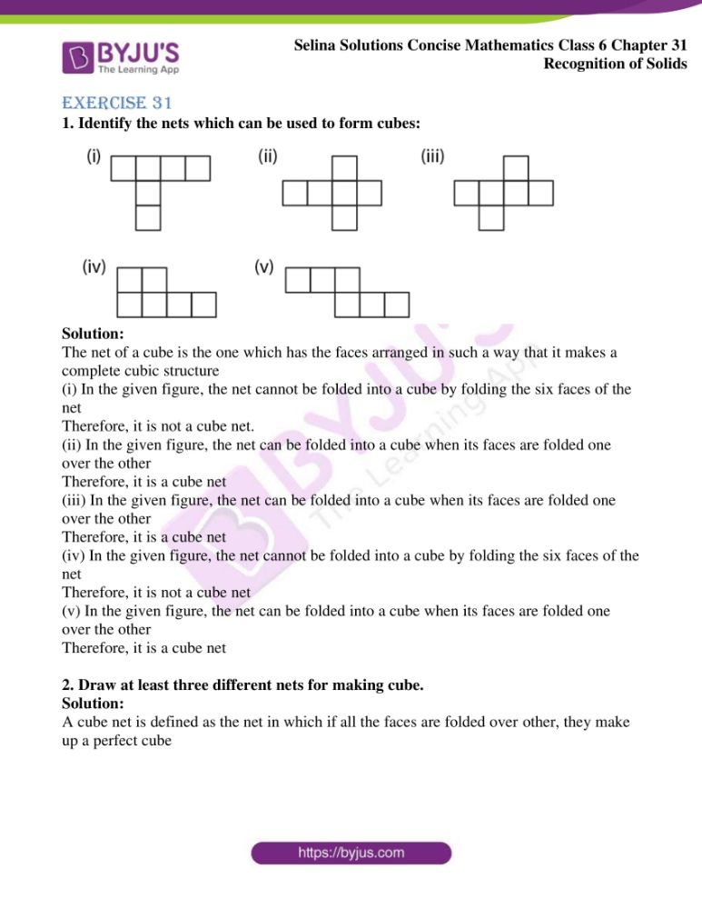 selina solutions for concise mathematics class 6 chapter 31 1