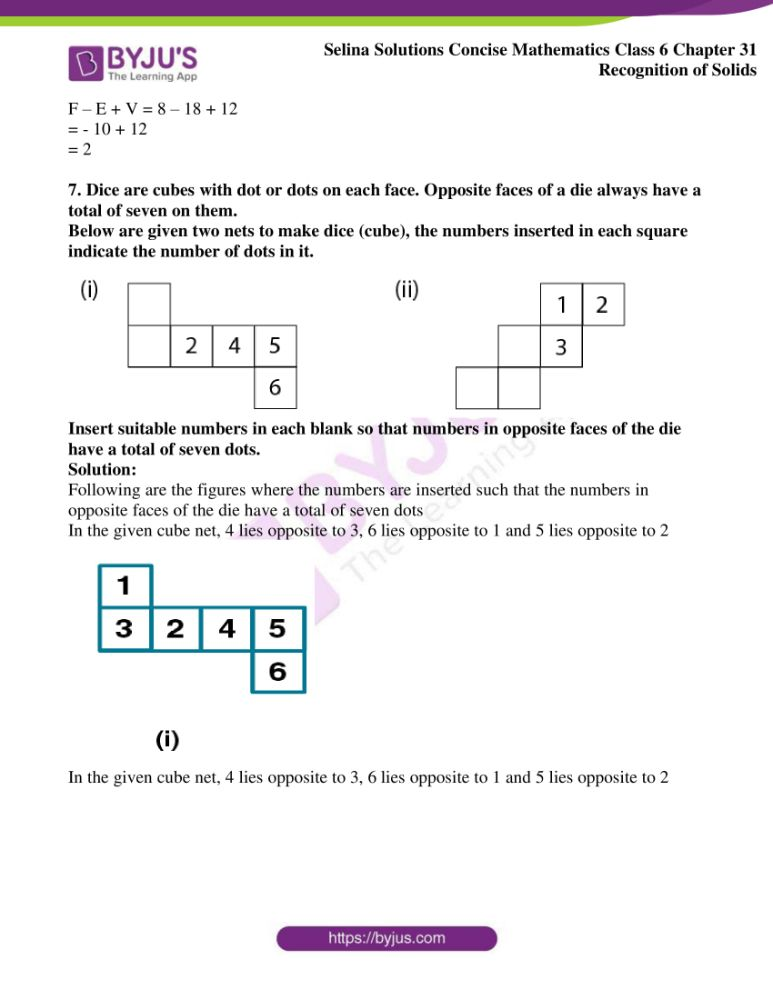 selina solutions for concise mathematics class 6 chapter 31 6