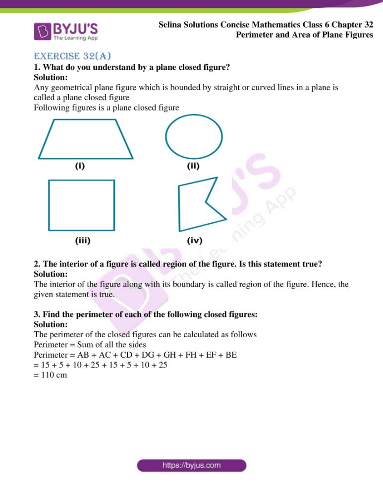 selina solutions for concise mathematics class 6 chapter 32 ex a 01