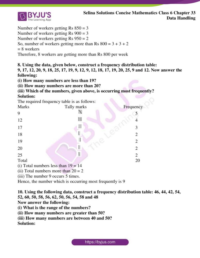 selina solutions for concise mathematics class 6 chapter 33 ex a 4