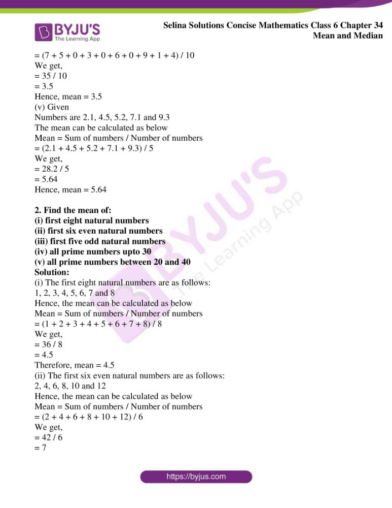 selina solutions for concise mathematics class 6 chapter 34 ex a 2