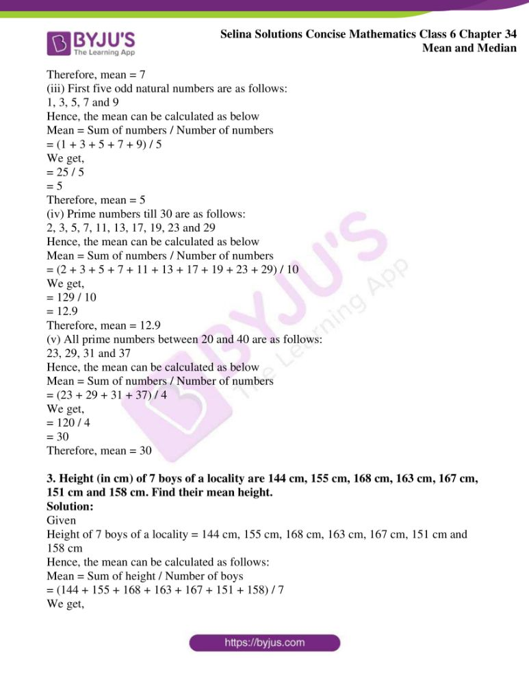 selina solutions for concise mathematics class 6 chapter 34 ex a 3