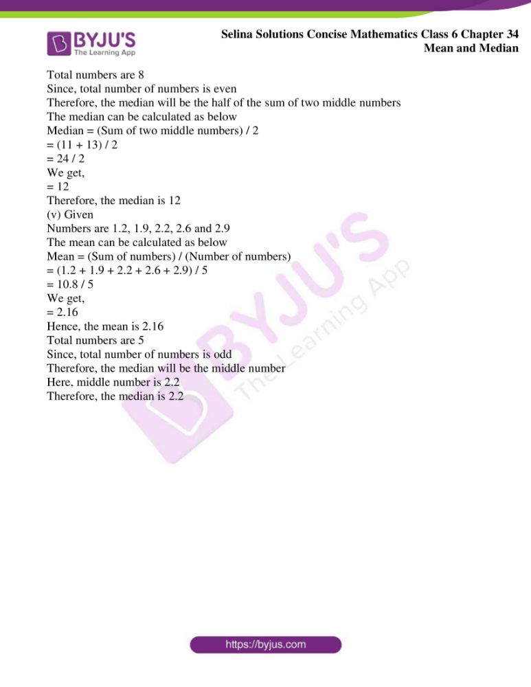 selina solutions for concise mathematics class 6 chapter 34 ex b 4