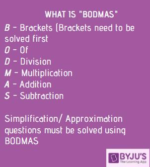 Simplification & Approximation - BODMAS