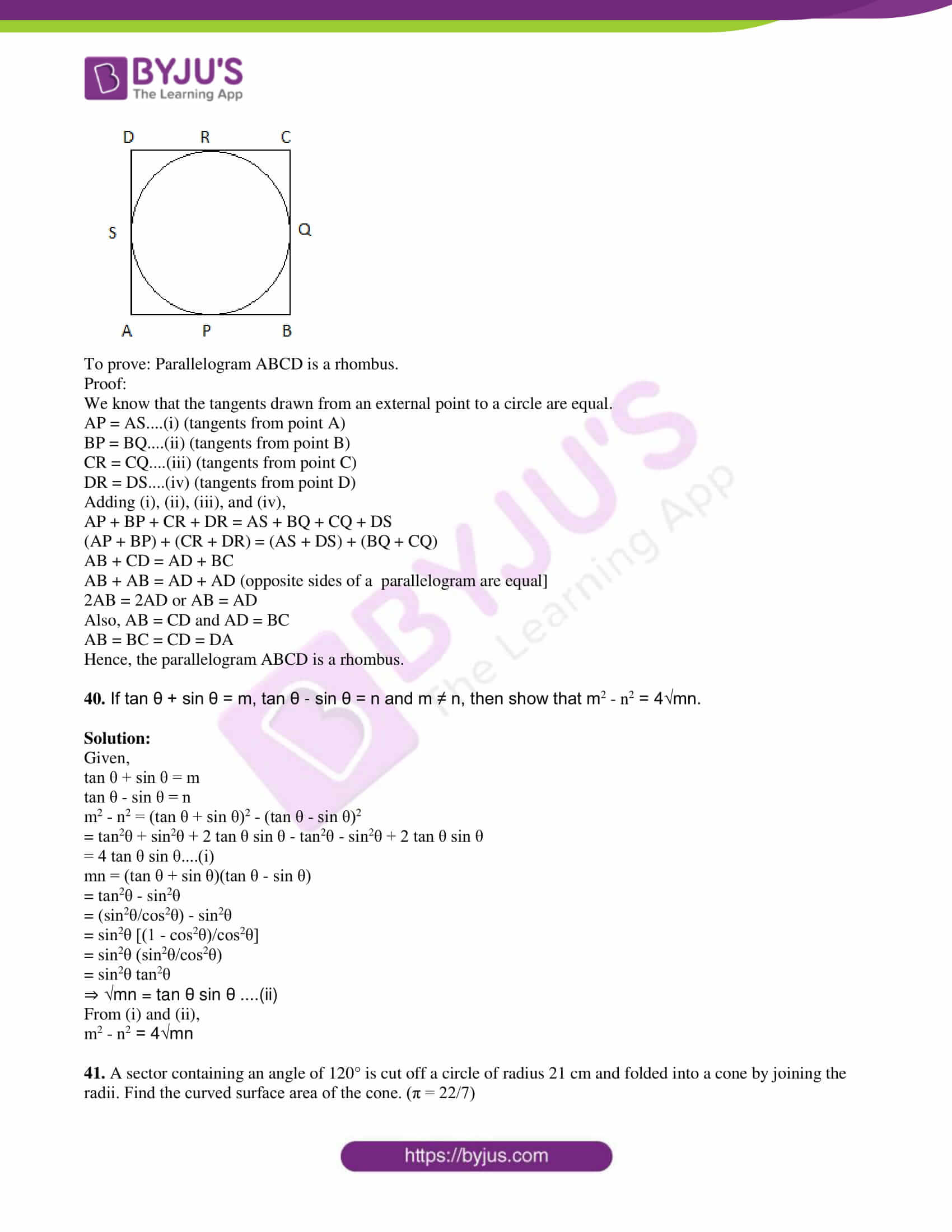 tn board sslc class 10 maths 2015 solutions 18