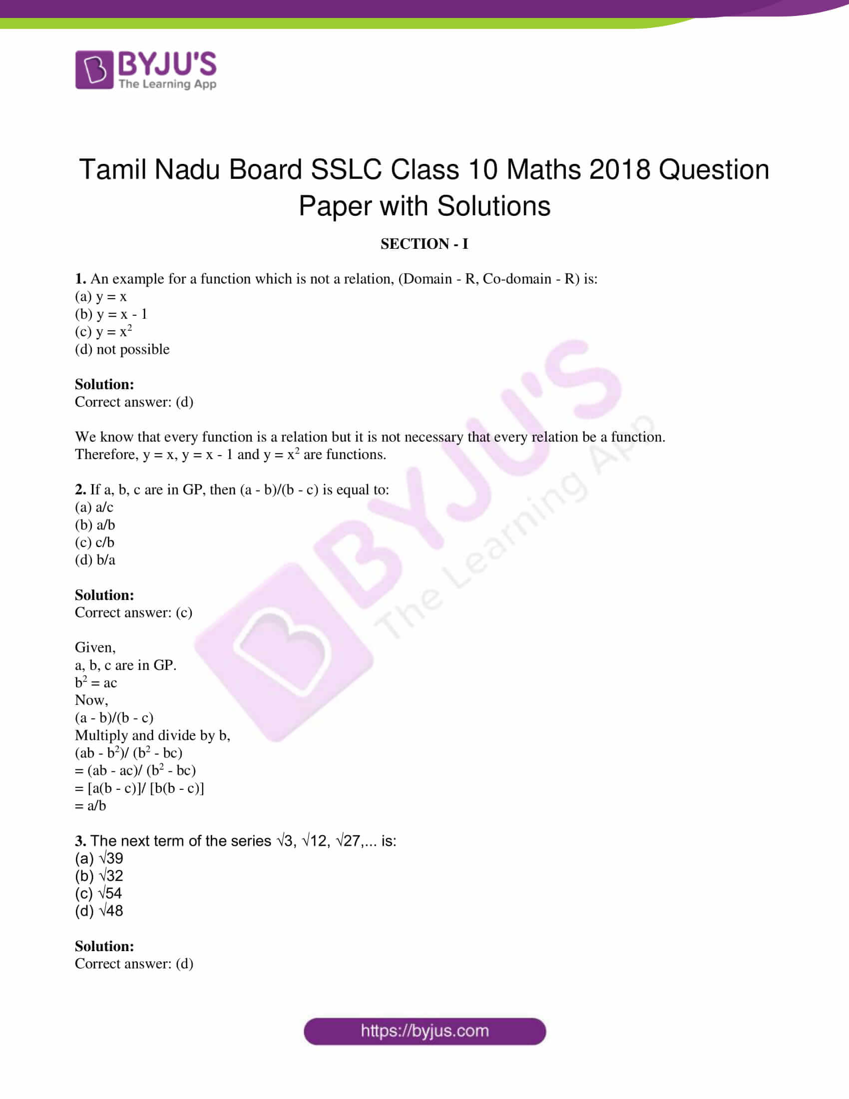 tn board sslc class 10 maths 2018 solutions 01