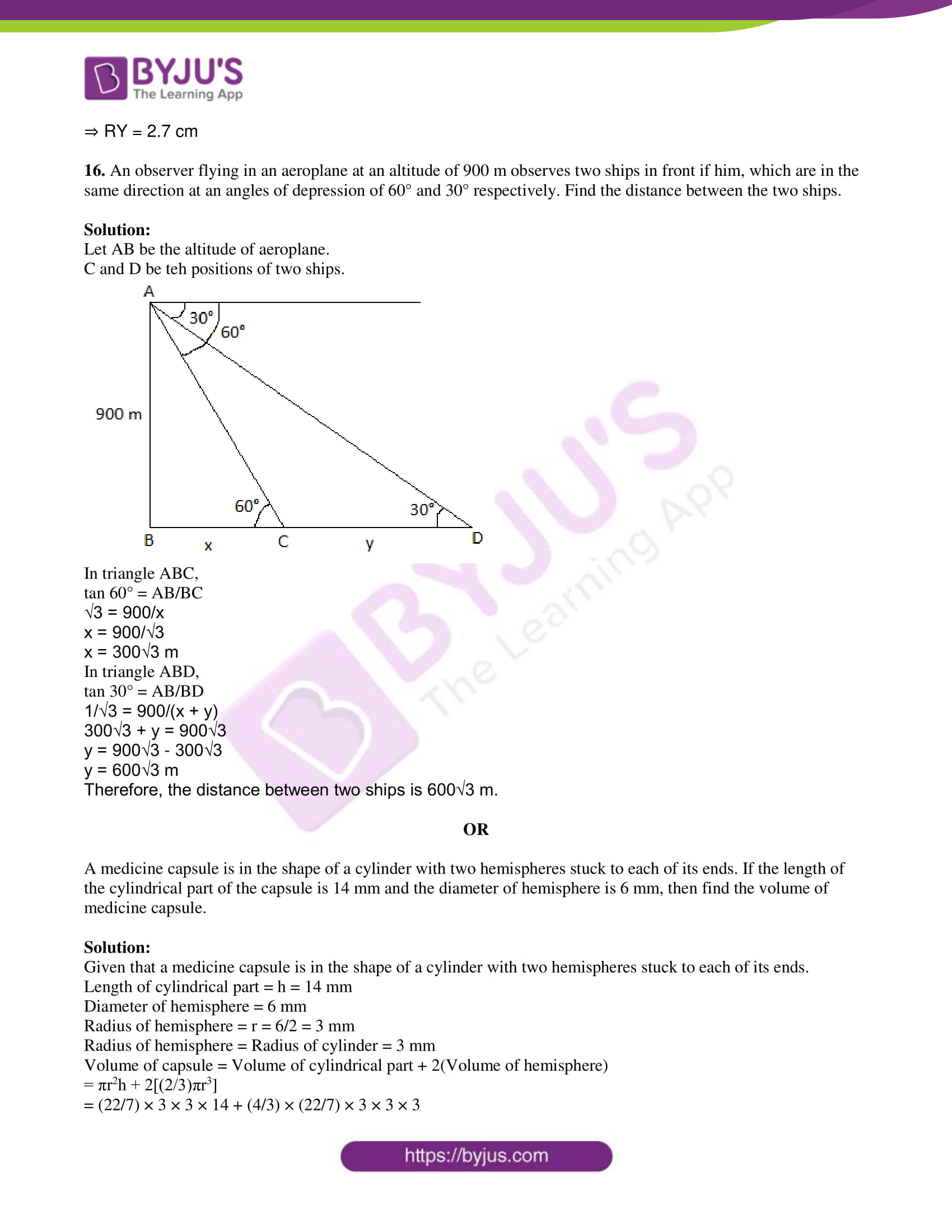tl board ssc class 10 maths 2015 question paper 2 with sol 08
