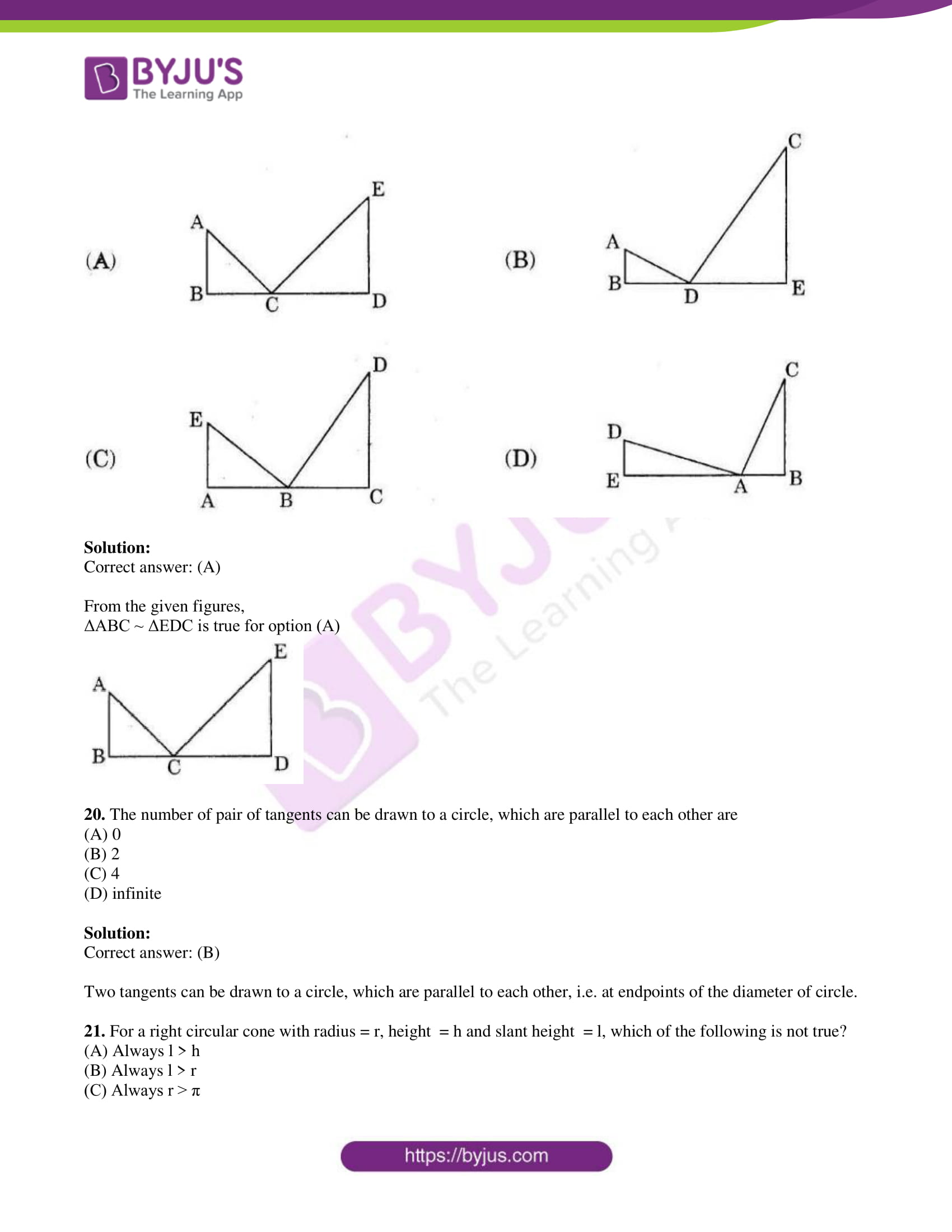 tl board ssc class 10 maths 2015 question paper 2 with sol 11
