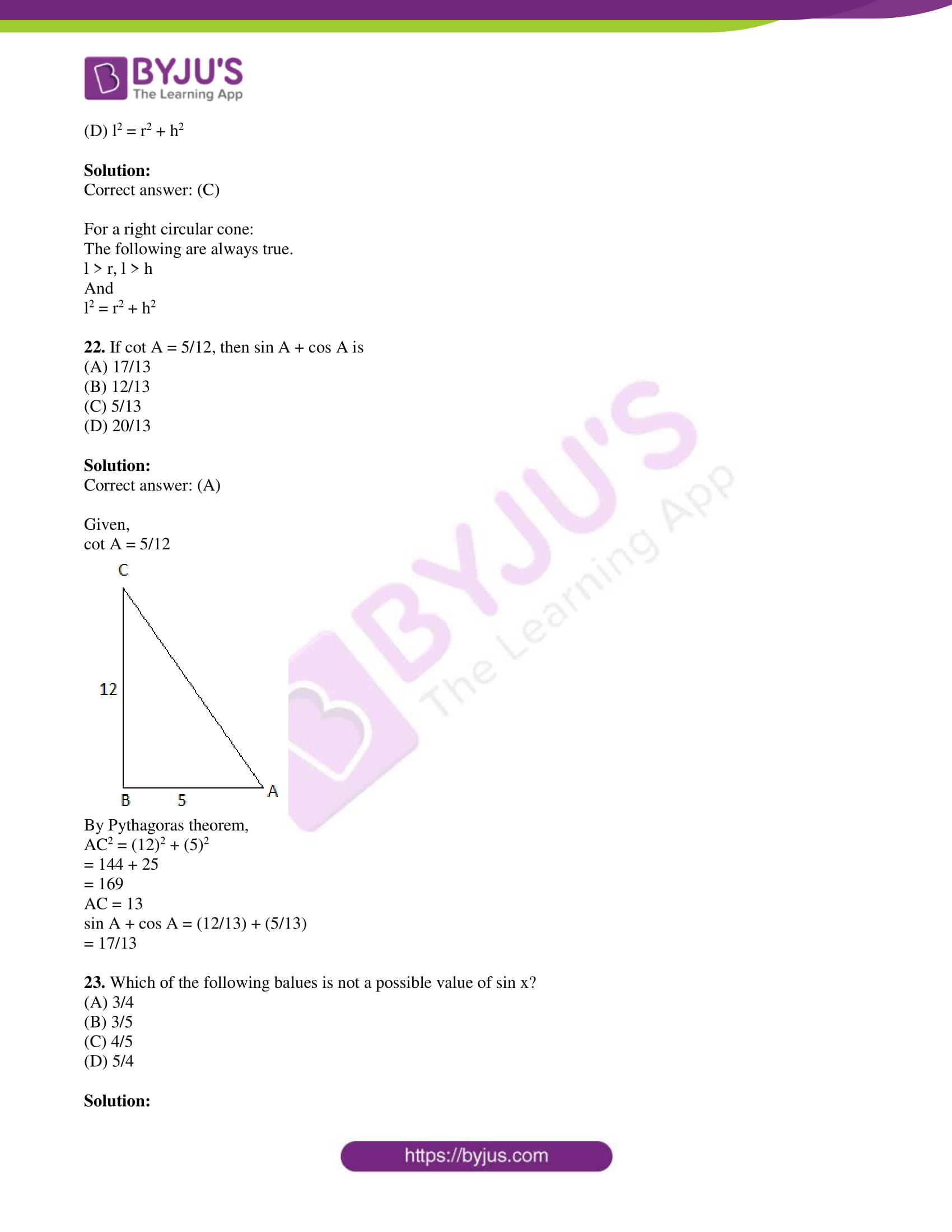 tl board ssc class 10 maths 2015 question paper 2 with sol 12