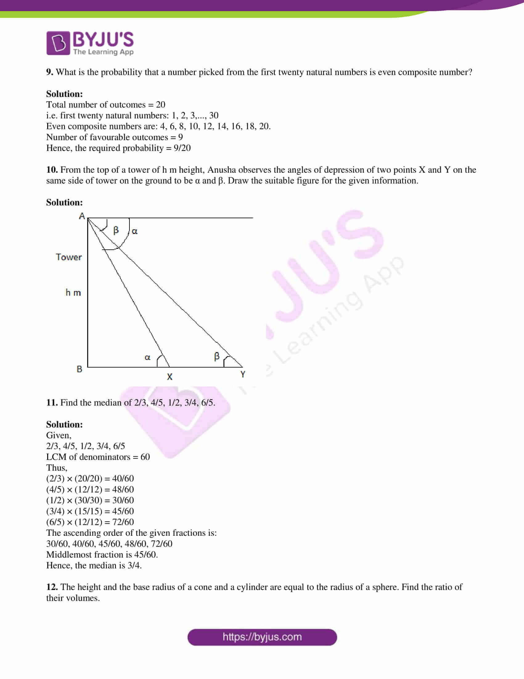 tl board ssc class 10 maths 2018 question paper 2 with sol 04