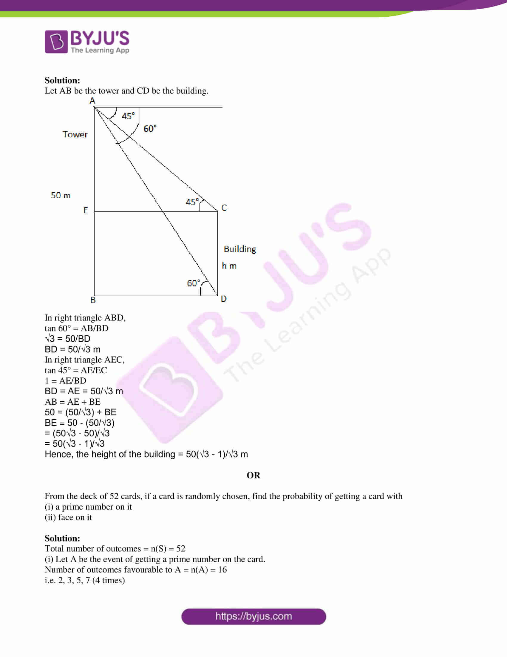 tl board ssc class 10 maths 2018 question paper 2 with sol 08