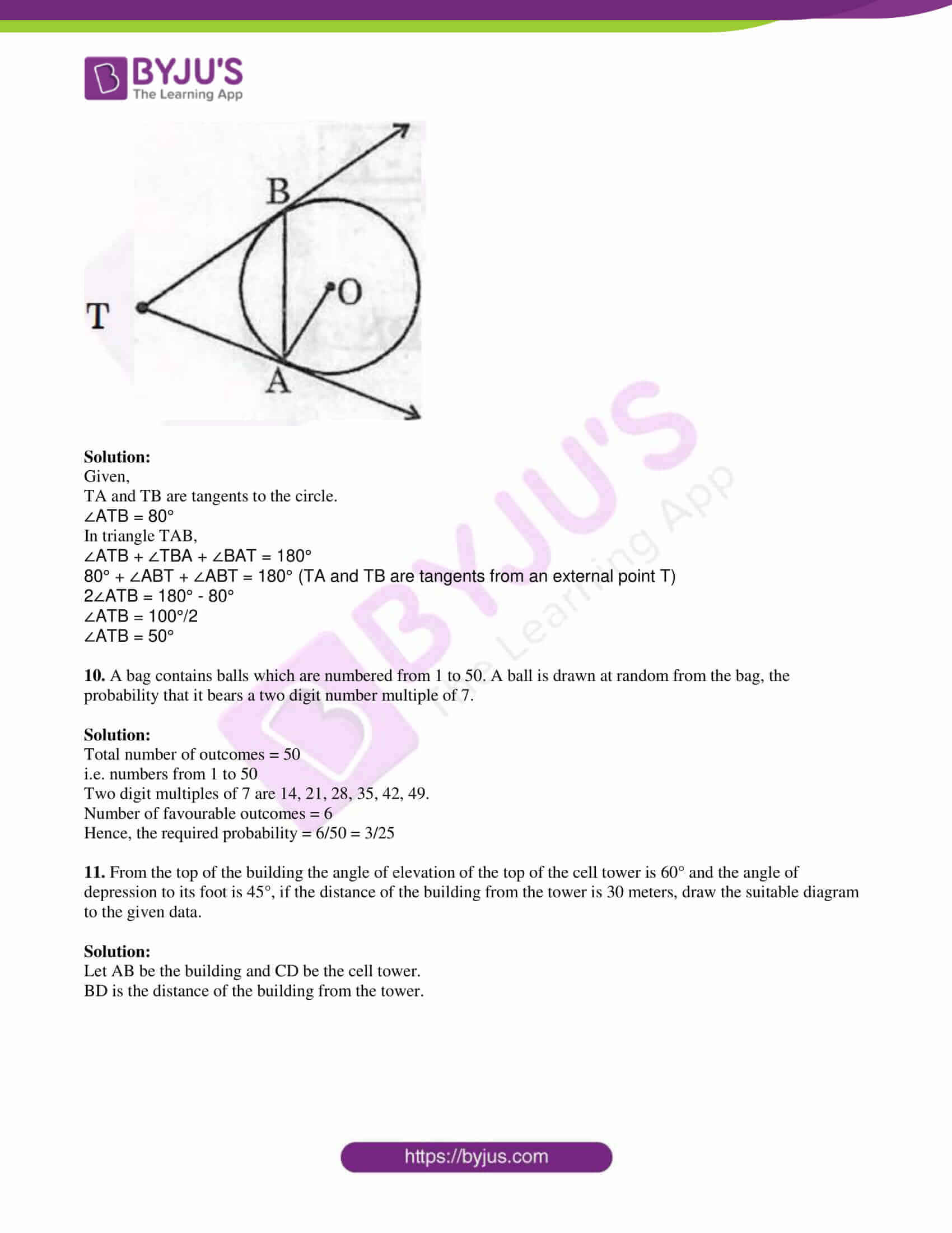 tl board ssc class 10 maths 2019 question paper 2 with sol 04