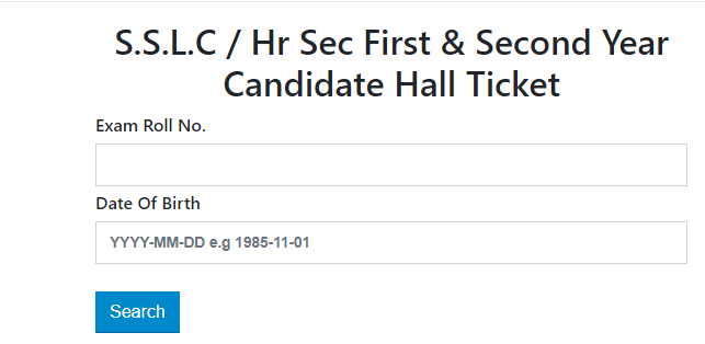 tn board class 10 hall ticket download step 4