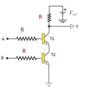 Transistor NAND gate