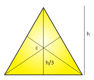 Triangle (at the centroid)
