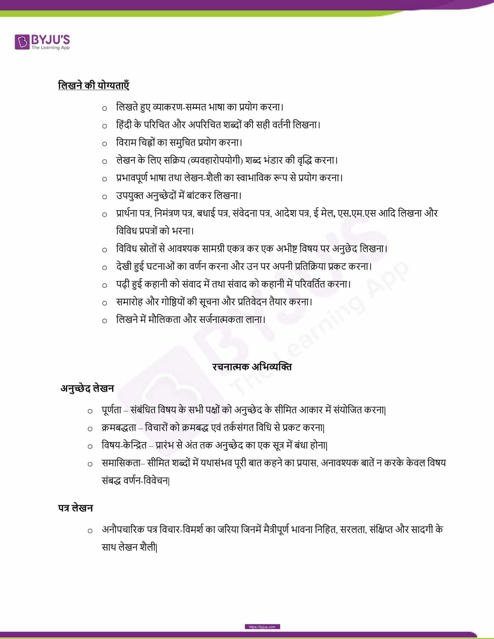 CBSE Class 10 Hindi Course B Revised Syllabus 2020 21 05