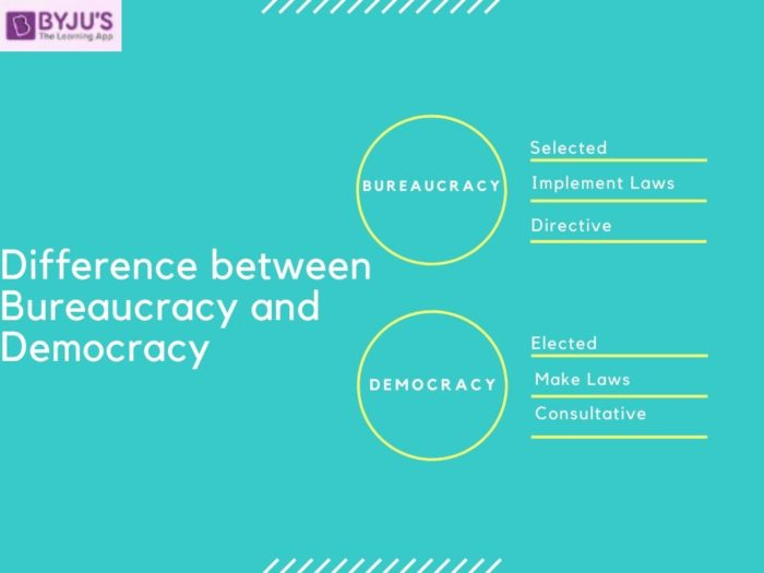 Difference between Bureaucracy and Democracy