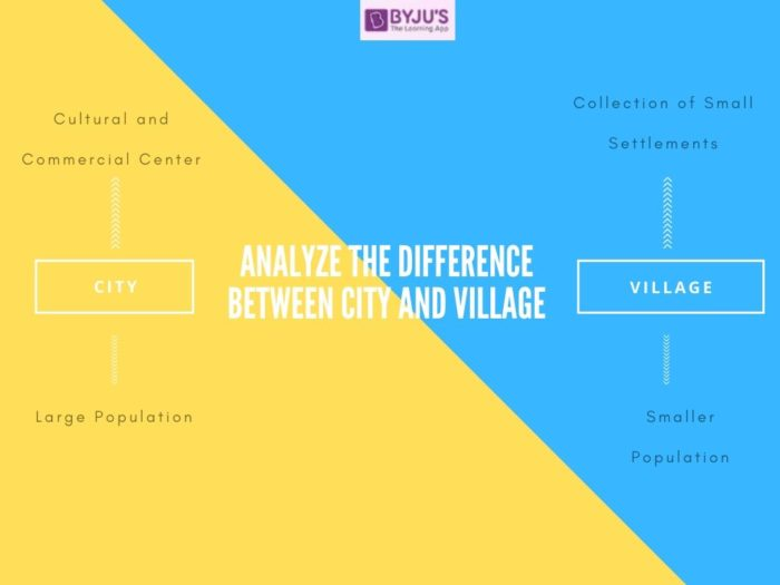 Difference Between City and Village - UPSC 2021